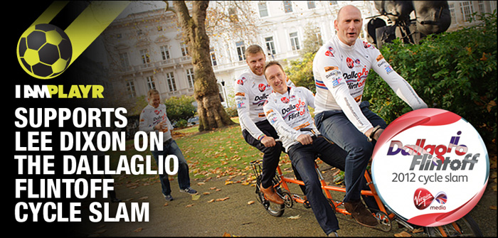 I AM PLAYR Cheers on Lee Dixon in Dallaglio Flintoff Cycle Slam 2012, Donates In-Game Coin Sales